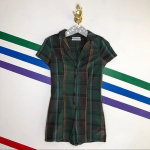 NEW Urban Outfitters Plaid romper